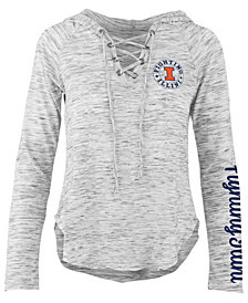 Pressbox Women's Illinois Fighting Illini Spacedye Lace Up Long Sleeve T-Shirt