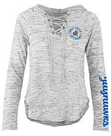 Pressbox Women's Kansas Jayhawks Spacedye Lace Up Long Sleeve T-Shirt