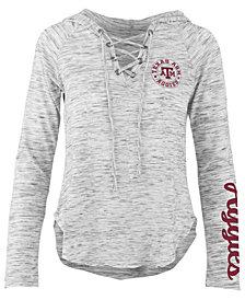 Pressbox Women's Texas A&M Aggies Spacedye Lace Up Long Sleeve T-Shirt