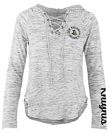 Women's University of Central Florida Knights Spacedye Lace Up Long Sleeve T-Shirt