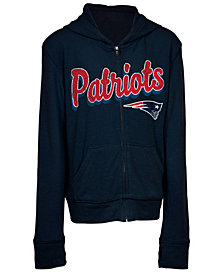 5th & Ocean New England Patriots Sweater Full-Zip Hoodie, Girls (4-16)
