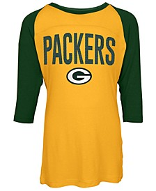 Green Bay Packers Raglan T-Shirt, Girls (4-16)