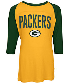 5th & Ocean Green Bay Packers Raglan T-Shirt, Girls (4-16)