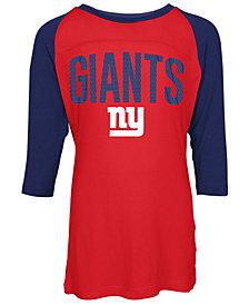 5th & Ocean New York Giants Raglan T-Shirt, Girls (4-16)