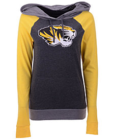 5th & Ocean Women's Missouri Tigers Big Logo Raglan Hooded Sweatshirt