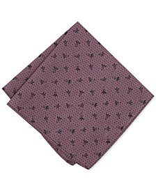 Bar III Men's Tossed Berry Dot Print Pocket Square, Created for Macy's