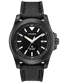 Citizen Eco-Drive Men's Promaster Tough Black Fabric Strap Watch 42mm