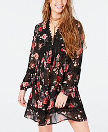 American Rag Juniors' Peasant-Style A-Line Dress, Created for Macy's