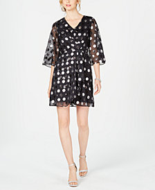 julia jordan Polka-Dot A-Line Dress