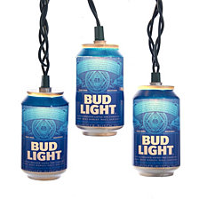 Kurt Adler 10 Light Bud Light Beer Can New Logo Light Set