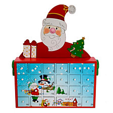 Kurt Adler 12 Inch Santa Advent Calendar
