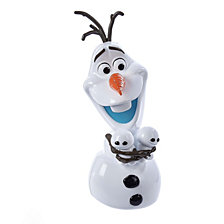 Kurt Adler 10 Inch Battery Operated Olaf Treetop Or Tablepiece with Light Up Nose