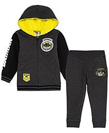 Little Boys Batman Varsity Jacket & Joggers Set