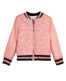 Epic Threads Little Girls Reversible Faux-Fur Bomber Jacket, Created for Macy's