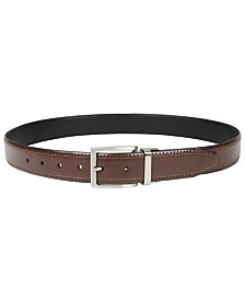 Club Room Men's Reversible Stretch Belt, Created for Macy's