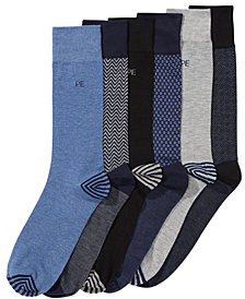 Perry Ellis Men's 6-Pk. Herringbone Dress Socks