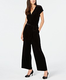 Velvet Wide-Leg Jumpsuit, Created for Macy's