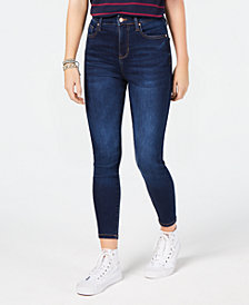 Celebrity Pink Juniors' Curvy High-Rise Skinny Ankle Jeans