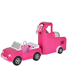 Simba Toys Steffi Love Jeep and Horse Trailer