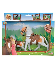 Simba Toys -Champion Beauty Horse With Foal, White And Tan With White Mane And Tail