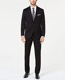 Men's Modern-Fit Black Solid Suit