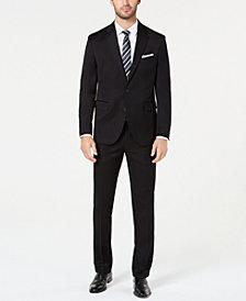 Dockers Men's Classic-Fit Black Solid Suit