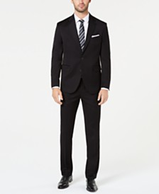 Dockers Men's Classic-Fit Black Solid Suit