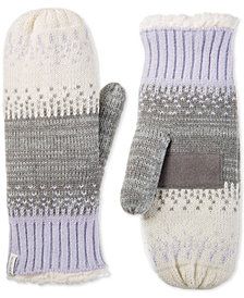 Isotoner Women's Warm Lined Acrylic Knit Mittens