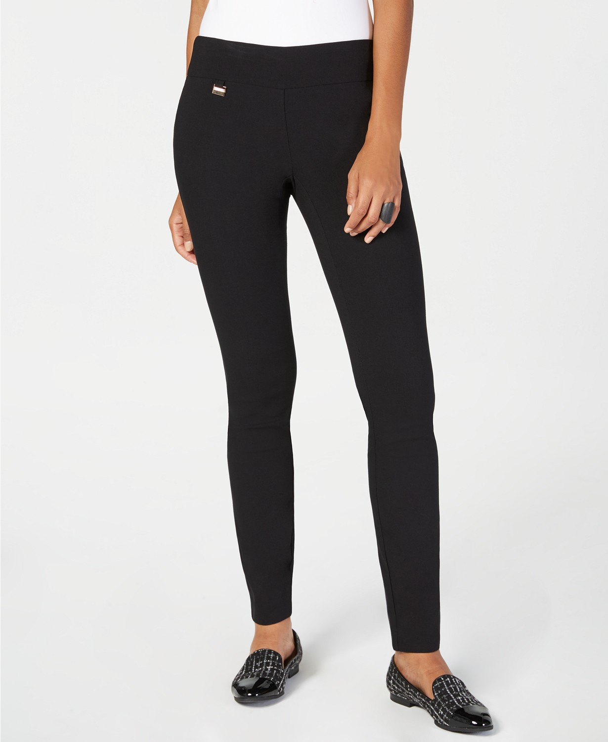 Alfani Tummy Control Pull-On Skinny Pants, Regular, Short, and Long Lengths, Created for Macy's
