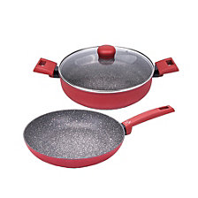 Moneta Riviera Non-Stick Forged Aluminum 3 Piece Cookware Set