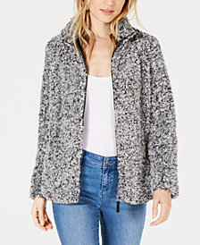 Style & Co Petite Fleece Sherpa Jacket, Created for Macy's