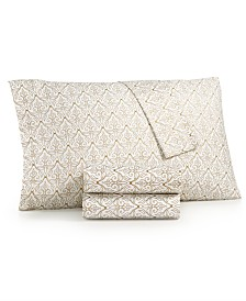 CLOSEOUT! Sanders Metallic-Print 3-Pc. Twin Sheet Set, 200-Thread Count Cotton Blend