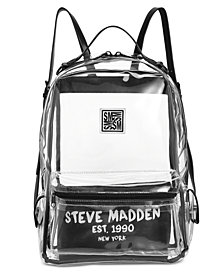 Steve Madden Alessia Clear Dome Backpack