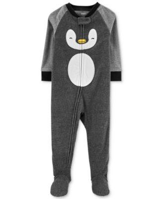 Grey Penguin Carters Baby Boys 1 Pc Fleece Footed Pajamas 5T