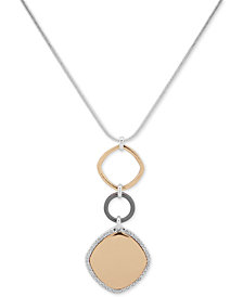 "Nine West Pavé Triple-Link 42"" Pendant Necklace"