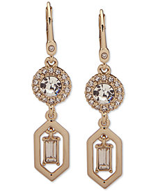 Ivanka Trump Gold-Tone Crystal Double Drop Earrings