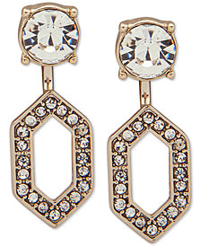 Ivanka Trump Gold-Tone Crystal Front & Back Earrings