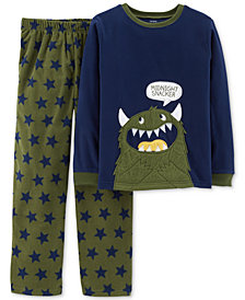 Carter's Little & Big Boys 2-Pc. Midnight Snacker Fleece Pajama Set