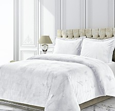 Venice Velvet Oversized Solid Twin Duvet Cover Set