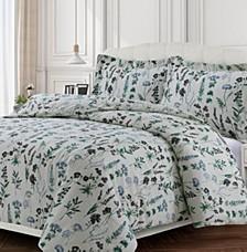 Fleur Cotton Flannel Printed Oversized Queen Duvet Set