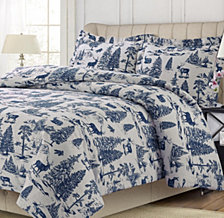 Mountain Toile Cotton Flannel Printed Oversized Duvet Sets