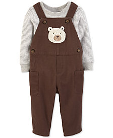 Carter's Baby Boys 2-Pc. Bear Overalls & Bodysuit Set