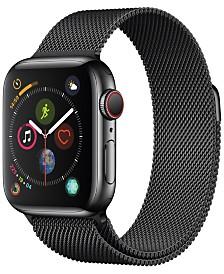 AppleWatch Series4 GPS+Cellular, 40mm Space Black Stainless Steel Case with Space Black Milanese Loop
