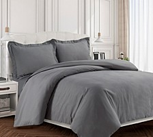 Valencia Microfiber Oversized Twin Duvet Cover Set