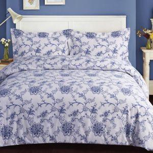 Floral Cotton Flannel Printed Oversized King Duvet Set Bedding 6928779