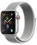 AppleWatch Series4 GPS+Cellular, 44mm Silver Aluminum Case with Seashell Sport Loop