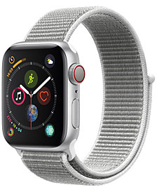 Apple Watch Series 4 GPS + Cellular, 44mm Silver Aluminum Case with Seashell Sport Loop