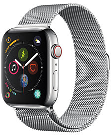 AppleWatch Series4 GPS+Cellular, 44mm Stainless Steel Case with Milanese Loop