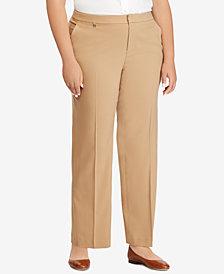 Lauren Ralph Lauren Plus Size Mid-Rise Pants