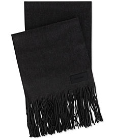 Calvin Klein Men's Fine-Gauged Fringed Scarf
